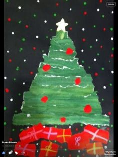 Kuva lainattu Fb Christmas Tree, Christmas Ornaments, Christmas Things, Christmas Ideas, Winter Kids, Tree Skirts, Art For Kids, Snowflakes, Angels