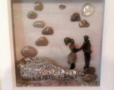Única decoración casera arte del guijarro por Anypebble77 en Etsy