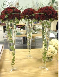 Red rose centrepiece