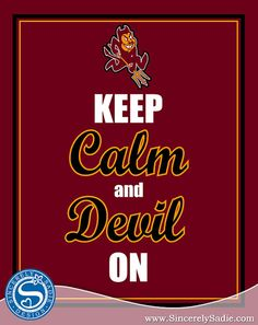 Arizona State University Keep Calm and by SincerelySadieDesign @ etsy