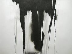 Black and White OOAK Original Modern Abstract Ink by Manjuzaka