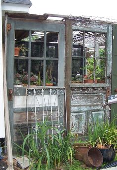 the whole website is greenhouses from recycled doo...