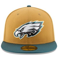 8237f2dbc Men s Philadelphia Eagles New Era Gold Collection 59FIFTY Fitted Hat - Gold