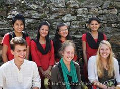 Students with Sikkimese teachers.