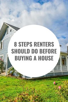Are you renting? Here are 8 steps you need to take before buying a house! Renting Vs Buying Home, Home Buying Checklist, Home Buying Tips, Buying Your First Home, Home Buying Process, First Time Home Buyers, Renting A House, Moving Checklist, Rent Vs Buy