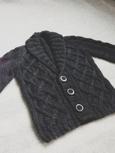 A grandpa sweater knit for our little Trane.