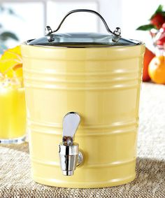Love this Yellow Mini Beverage Dispenser on #zulily! #zulilyfinds @Molly McDonough THIS ONES ONLY $9.50!!