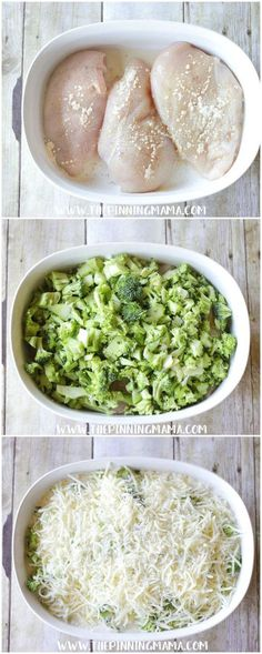 Broccoli Alfredo Chicken Bake Recipe: Only one dish and a few ingredients and you come out with a hot fresh super delicious dinner. This Easy Broccoli Alfredo Bake Yummy Recipes, Dinner Recipes, Cooking Recipes, Yummy Food, Healthy Recipes, Grill Recipes, Low Carb Dinner Ideas, Easy Low Carb Recipes, Dinner Ideas