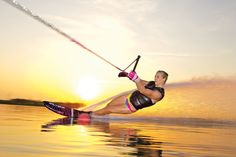 One of the best waterskiing shots.