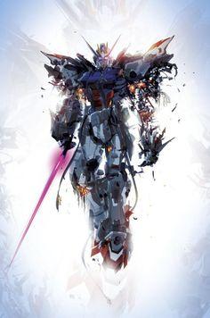 I can't build a Gundam, so I paint them Art Gundam, Gundam 00, Gundam Wing, Mecha Anime, Blood Orphans, Gundam Iron Blooded Orphans, Arte Robot, Robot Art, Gundam Wallpapers