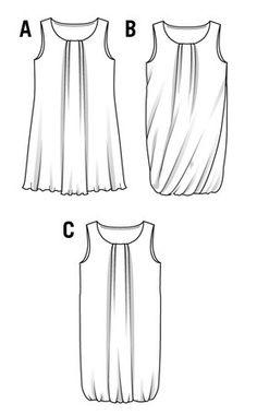 yo elijo coser: Patrón descarga gratuita: 3 modelos de vestido de verano (fácil)