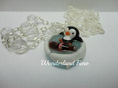 penguin, Polymer clay, porcelana fria, masa flexible, biscuit, pasta francesa, cold porcelain, fimo, salt dough