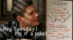 Hey Tuesday! Pig n' a poke! One of my favorite episodes!