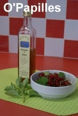 Vinaigre aromatisé aux groseilles