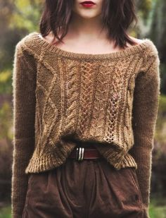 Our favorite casual look. Tucked sweaters and red lips. Indie Fashion, Look Fashion, Womens Fashion, Fall Fashion, Lolita Fashion, Street Fashion, Trendy Fashion, High Fashion, Mode Style