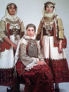 Traditional costume from Spata town, Attica, Greece Greek Traditional Dress, Traditional Fashion, Traditional Outfits, Historical Costume, Historical Clothing, Greek Dancing, Dance Costumes, Greek Costumes, Folk Fashion