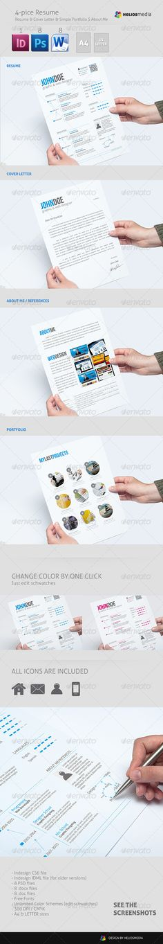 Metro \ Minimal Style Business Resume - 02 Business resume, Find - professional business resume