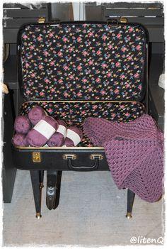 Bestemors koffert har blitt et lite bord.