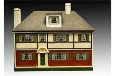 A rare very large institutional Tri-ang dolls' house DH/14 1921, finished on four sides with a ti