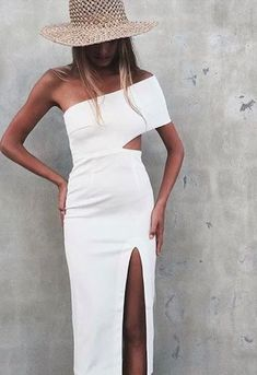 Cheap dress fans, Buy Quality dress flag directly from China dress up games lingerie Suppliers: 2017 sexy one shoulder bandage dresses bodycon white black hollow out celebrity cocktail party dresses vestidos robe de soiree Trend Fashion, Look Fashion, Fashion Clothes, Fashion 2018, Fashion Ideas, Girl Fashion, Dress Skirt, Dress Up, Jacket Dress