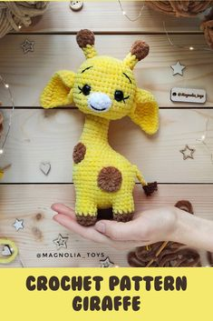 Crochet pattern giraffe - You are in the right place about diy Here we offer you the most beautiful pictures about the diy - Crochet Giraffe Pattern, Crochet Animal Patterns, Stuffed Animal Patterns, Crochet Patterns Amigurumi, Floral Embroidery Patterns, Simple Embroidery, Machine Embroidery Patterns, Cute Crochet, Crochet Projects