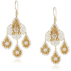 Miguel Ases Opalite and Gold Miyuki Bead Small Chandelier Drop Earrings Miguel Ases http://www.amazon.com/dp/B00BBVCTQ0/ref=cm_sw_r_pi_dp_BzJ3tb1GPGHAESYD