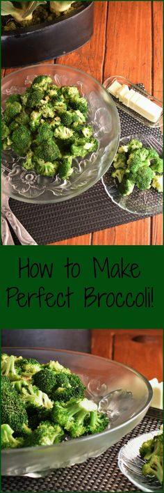 Classic, simple, perfectly cooked broccoli. Here's how to make it!