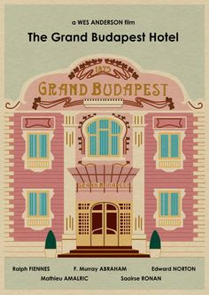 The GRAND BUDAPEST HOTEL 16x12 Wes Anderson by MonsterGallery. $18.90