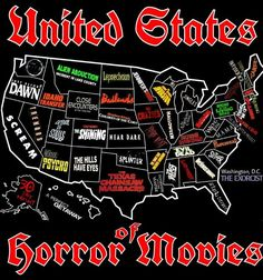 Because knowing is half the zombie/serial killer/poltergeist battle. What is your state's most iconic horror movie?