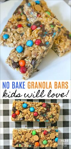 never buy store bought granola bars again once you try these easy no bake., You'll never buy store bought granola bars again once you try these easy no bake., You'll never buy store bought granola bars again once you try these easy no bake. No Bake Granola Bars, Homemade Granola Bars, Granola Bites, Oatmeal Bars, Baked Oatmeal, Kids Granola Bar Recipe, Clean Granola Bars, Clean Eating Granola, Healthy Granola Bars