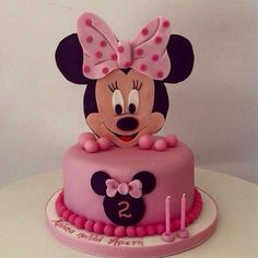 Minnie Mouse Cake Design, Mickey And Minnie Cake, Bolo Mickey, Minnie Mouse Birthday Cakes, Mickey Mouse Cupcakes, Mickey Cakes, Minnie Mouse Party, Birthday Cake Girls, Mickey Birthday