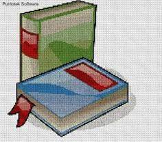 Resultado de imagen de patron de libros a punto cruz