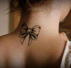 bow tattoos on neck - Google Search