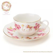 Hello Kitty x LAURA ASHLEY Tea Cup Saucer Tableware Sanrio Made in Japan S5076