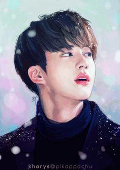 BTS Fan Art : Jin Light Winter [kharys]