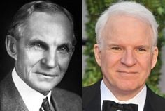 Famous Lookalikes: Henry Ford - Steve Martin (Images of Henry Ford and Steve Martin provided by Getty Images)