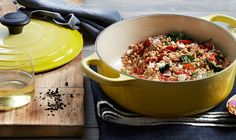 Farro Salad with Tomatoes, Spinach and Feta
