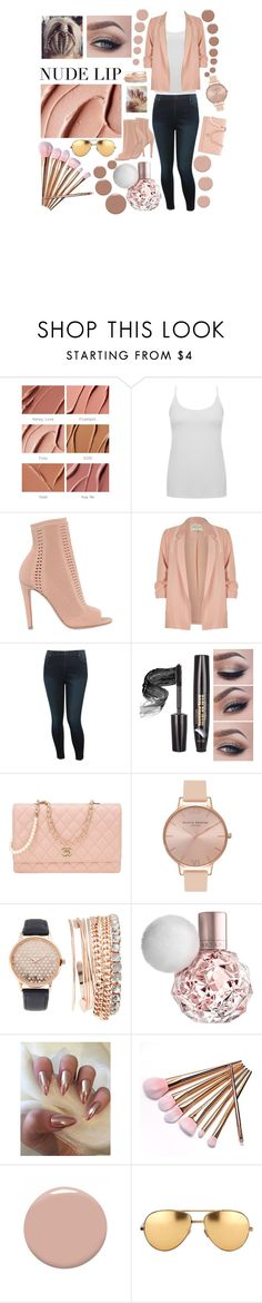 """""""Untitled #312"""" by casssiaaa ❤ liked on Polyvore featuring beauty, MAC Cosmetics, M&Co, Gianvito Rossi, River Island, Chanel, Olivia Burton, Jessica Carlyle, Christian Louboutin and Linda Farrow"""