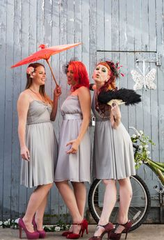 #alternative #bridesmaid spicing up Harper Ann, Milda and Taylor Ann  Available in sizes 8-10. Sample sale $60