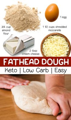 4 Ingredient Keto Pizza Crust (Fathead Dough) - Instrupix
