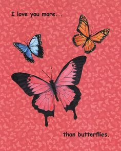 """""""I Love You More...Than Chocolate"""" acrylic collage painting children's book illustration.(I love you more than butterflies) © Cindy Coleman"""