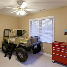 Cool Beds Tips And Techniques For cool beds for kids sleepover Little Boy Beds, Monster Truck Bed, Jeep Bed, Kids Car Bed, Kids Truck Bed, Cool Beds For Kids, Toddler Beds For Boys, Ideas Hogar, Simple Bed