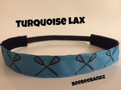 A personal favorite from my Etsy shop https://www.etsy.com/listing/254180588/no-slip-headband-turquoise-lacrosse-lax