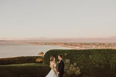 La Venta Inn Wedding, Palos Verdes Estates  IsaiahAndTaylor.com, Isaiah + Taylor Photography  Outdoor, ocean view wedding ceremony & reception, Southern California Wedding Venue, Los Angeles Wedding Photographers, Husband & Wife Photography Team, Natural dark reds color tone, shoreline sunset view of L.A. and beach