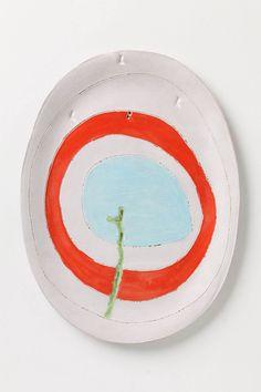Red Ring Platter - Anthropologie.com by Lisa Neimeth