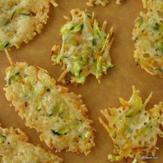 Parmesan Cheese Crisps Laced with Zucchini & Carrots  (Made w/ zuc and romano cheese tonight...yum!  Husband and 1 of 2 kids loved it!)