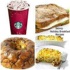 Skinny Kitchen's Holiday Breakfast Roundup! I'm sharing several skinny breakfast recipes that include egg dishes, stuffed French toast recipes, mini cinnamon rolls, monkey bread and my all time favorite, Skinny Hash Browns, Bacon and Eggs Breakfast Casserole. http://www.skinnykitchen.com/recipes/skinny-kitchens-holiday-breakfast-roundup-2/