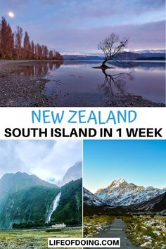 Headed on a New Zealand South Island road trip? Check out our New Zealand South Island itinerary to read the top things to do in New Zealand in 1 week. New Zealand itinerary map   New Zealand itinerary 1 week   New Zealand photography   Ultimate New Zealand road trip   New Zealand travel tips   New Zealand bucket list   What to do in New Zealand South Island 1 week   New Zealand hikes   Best places to visit in New Zealand #LifeOfDoing Australia Country, Visit Australia, Australia Travel, New Zealand Itinerary, New Zealand Travel Guide, Travel Guides, Travel Tips, Travel Destinations, New Zealand South Island