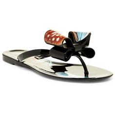 10e8ec6cde7e4 Ipanema Neo Clara Bow Flip Flops ( 19) ❤ liked on Polyvore featuring shoes