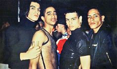 """We carried our flamboyance as a warning"" - Luis Camacho — with Salim Gauwloos, Jose Gutierez and Luis Xtravaganza Camacho and the late Gabriel Trupin"